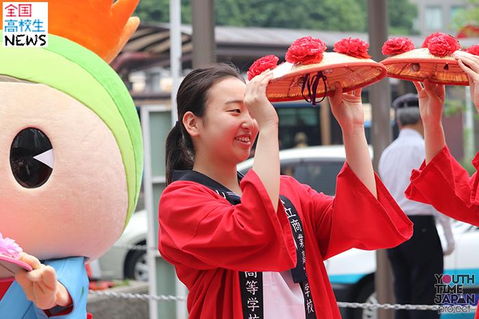 【山形市立商業高等学校】産調ガールズが横浜高島屋に!花笠踊りで山形の魅力を伝える
