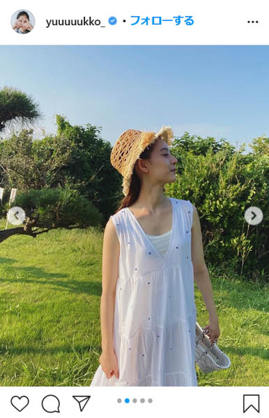 新木優子、涼し気な全身ホワイトコーデを披露!「夏服ラストスパート!!」