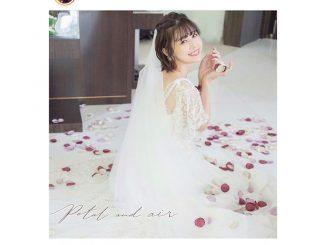 有村藍里、純白ウェディングドレス衣装を披露「愛と笑顔が溢れる撮影でした」