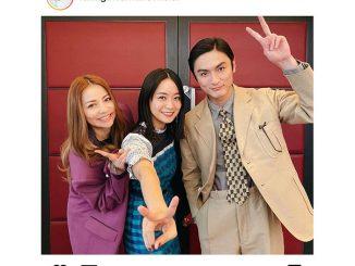 深川麻衣、「おもいで写眞」で共演の香里奈、高良健吾とピースで3ショット!