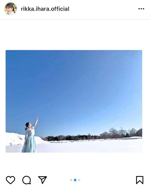 伊原六花、天使すぎる大雪原のポートレートに歓喜の声「間違いなく天使でございます」