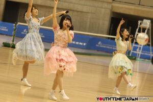 さくらシンデレラが歌とダンスで東京体育館4000人にエールを送る@ルーセントカップ第58回 東京インドア全日本ソフトテニス大会