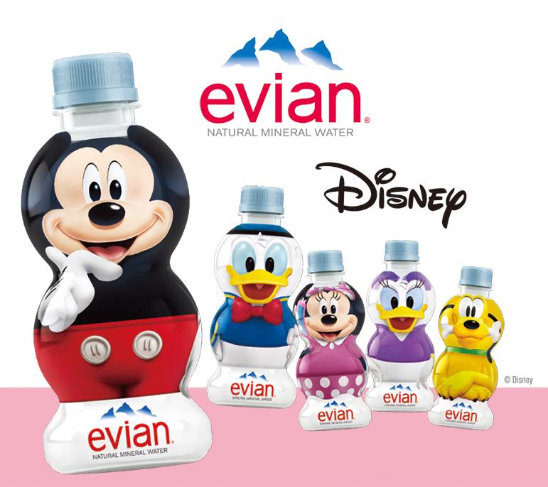 水分補給も可愛くしたい♡「エビアン ディズニーデザインボトル 310ml」が 2月19日に新発売