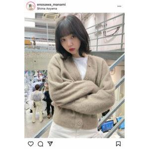 江野沢愛美、髪色を暗めにチェンジして大人っぽく!「暗髪のまなみんもめちゃかわ」