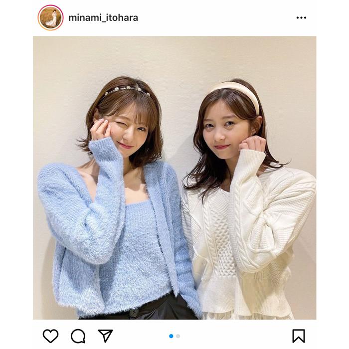 糸原美波と松川星がキュートなツーショットを披露!「2人とも可愛い」