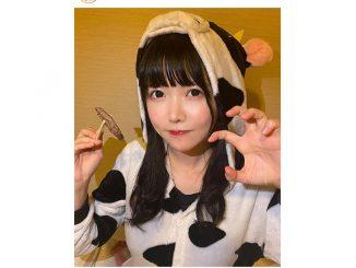 真っ白なキャンバス 小野寺梓、牛コスプレで牛タンを食す!「ひと口食べさせて〜!」