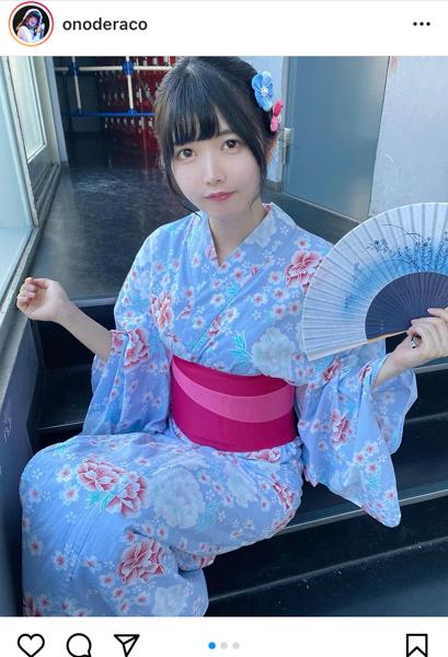 真っ白なキャンバス 小野寺梓の浴衣美人ショットに反響!