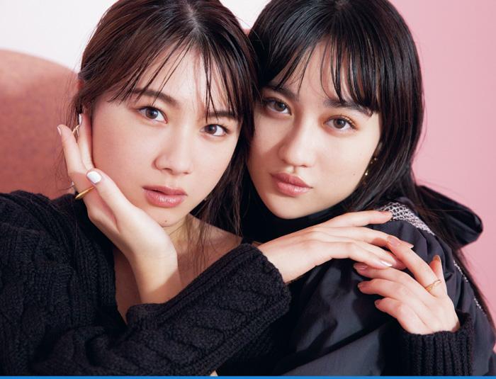 モーニング娘。'21・石田亜佑美、アンジュルム・佐々木莉佳子、『CanCam』で「シスターフッド」な関係。グループの垣根を越えた「伊達姉妹」!