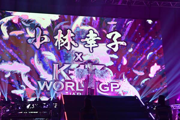 """小林幸子さんがK-1横浜大会で""""スペシャルラウンドガール""""に初挑戦!ミニスカ・ニーハイブーツの豪華衣装でラスボス降臨!!"""